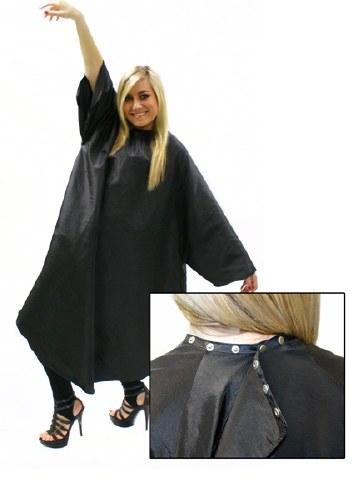 HT Sleeved Gown Black w Popper