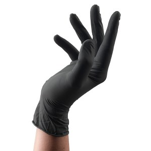 Sinelco Glove Latex Blk Sm 100
