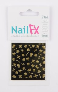 The Edge Nail Art Gold Skull