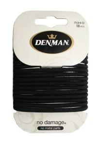 Denman Elastics Black 18pk
