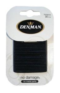Denman Elastics Black 30pk