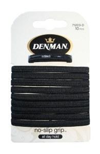 Denman Elastics Black 10pk