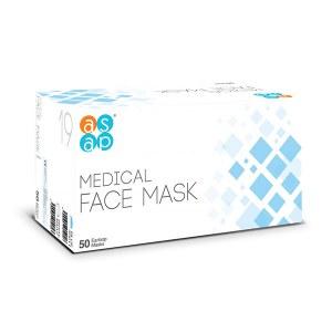 ASAP Disp Face Mask 50pc