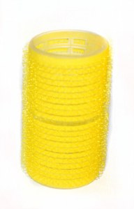HT Velcro Rollers Lg Yellow