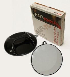 HT Deluxe Round Mirror Black