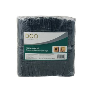 Deo G-String Black 50pc