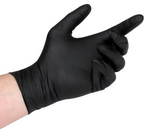 EG Black Nitrile Glove L 100pk