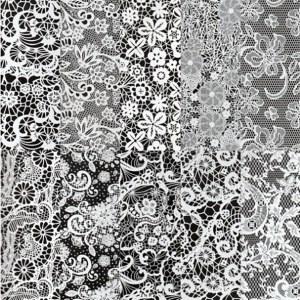 Halo Create Foil White Lace