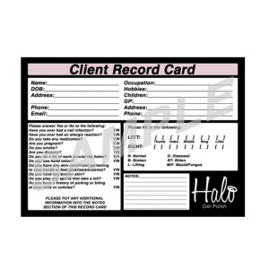 Halo Client Record Card 50pk