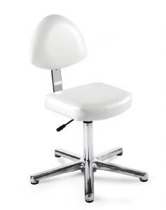 Rem Nail Tech Seat White Glide