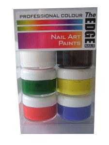 The Edge Nail Art Paints Box 6