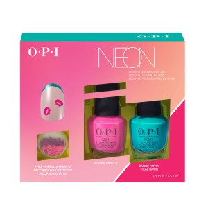 OPI Neon Duo Nail Art Teal