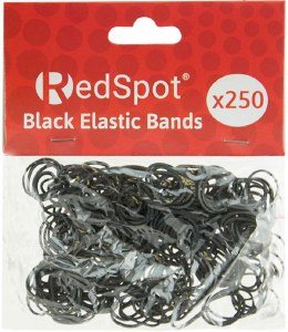 D Mc Elastic Bands Black 250pk