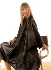 HT Black Satin Gown