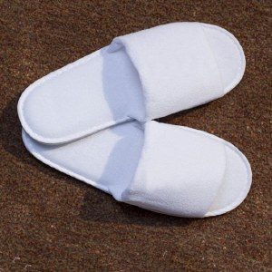 BC Slipper Open Toe White