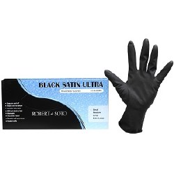 Black Satin Gloves Small 5pair