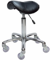 Saddle Stool - No Back Chro (P