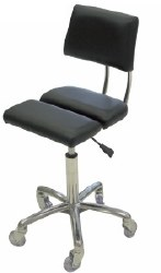Dove Stool with Back - Blk (P)