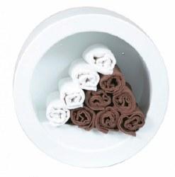 Tub Towel Rack - White (P)