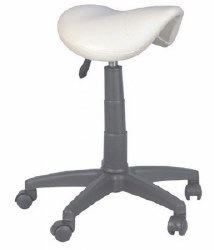 Stool-Saddle (No Back) White(P