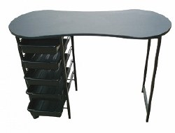 Kidney Manicure Table Black (P