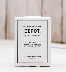 Depot 504 Beard & Mo Wipes 12p
