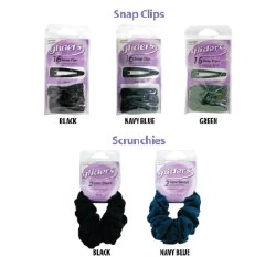 Gliders Snap Clips Black 16pk