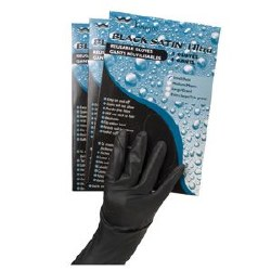 Black Satin Ult Gloves Med 2pa