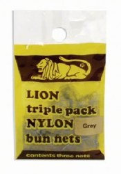 Bun Nets Lion 3Pk Black (D)