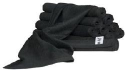 M&U Black Towel 12Pk (D)