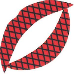 Vixen Lip Tattoo Red Fishnet(D