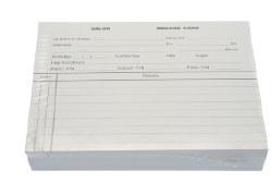 Salon Record Cards 100pk White