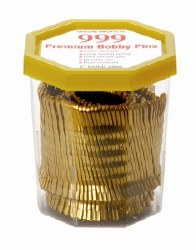 """Date Bobby Pins 999 2"""" Gold"""