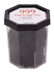 """999 Fine Fring Pin 2"""" Blk 120g"""