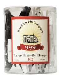 999 Butterfly Clamps Lge Blk&W