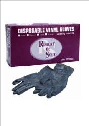 Robert Des Vinyl Gloves Sml (D