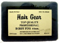 H Gear Bobby Pin Black 64mm(D)