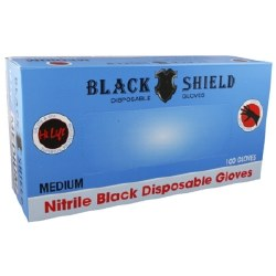 Black Shield Dispos Gloves Sml