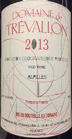 2013 Domaine de Trevallon, IGP Alpilles Red Wine, France