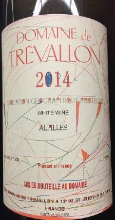 2014 Domaine de Trevallon, IGP Alpilles White Wine, France