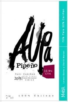 "2016 Vina Maitia, Pipeno, ""Aupa"""