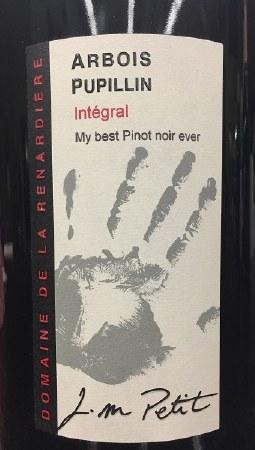 """2014 Domaine de la Renardiere, Pinot Noir, AOC Arbois Pupillin, """"Integral,""""  France 1.5L"""