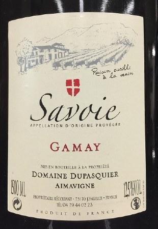 2009 Domaine Dupasquier, AOP Savoie, Gamay, Aimavigne, France, 1.5L