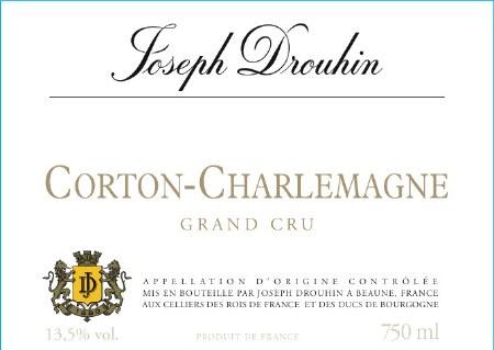 2014 Joseph Drouhin, AOC Corton Charlemagne Grand Cru, Burgundy, France