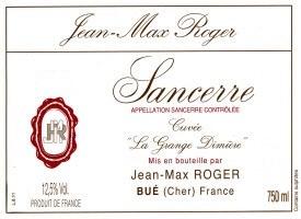 """2010 Jean-Max Roger, AOC Sancerre Rouge, """"Cuvee la Grange Dimiere"""""""