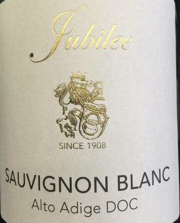2015 Jubilee, Sauvignon Blanc, DOC Alto Adige, Italy