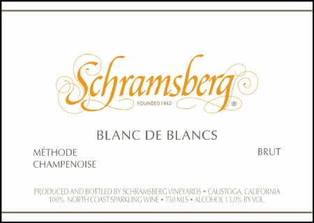 2012 Schramsberg, Blanc de Blanc, Brut, Methode Champenoise, Calistoga, CA