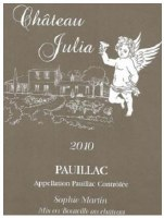 2010 Chateau Julia, AOC Pauillac, Bordeaux Red Wine