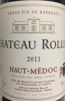 2011 Chateau Rollin, AOC Haut-Medoc, Bordeaux Red Wine