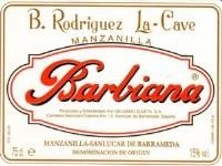 "NV B. Rodriguez La-Cave, ""Barbiana,"" DO Manzanilla-Sanlucar de Barrameda, Jerez 375ml"